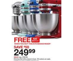 kitchenaid ultra stand mixer deal at target black friday sale