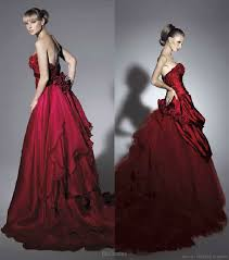 scarlet wedding dress wedding in color by rs couture wedding inspirasi