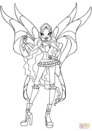 winx club aisha coloring page free printable coloring pages