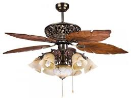 Ceiling Fan Light Brilliant Large Tropical Ceiling Fan Light With 5 Maple Leaves