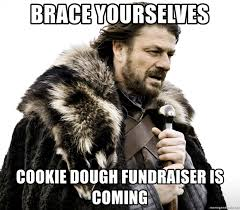 Brace Yourself Meme Generator - brace yourselves cookie dough fundraiser is coming nedd stark