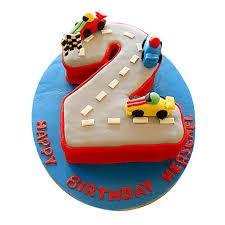 car race birthday cake 4kg butterscotch gift car race birthday