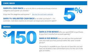 get 5 cashback on purchase earn 150 bonus 1 back on purchases 5 back on bonus