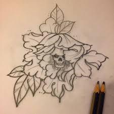33 amazing peony outline tattoos