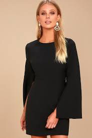 sleeve black dress chic bell sleeve dress black dress dress