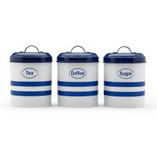 100 kitchen tea coffee sugar canisters bn set of 3 green