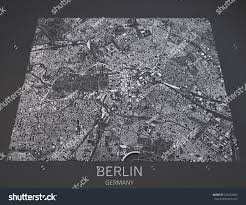 Satellite View Maps Map Berlin Germany Satellite View Maps Stock Illustration