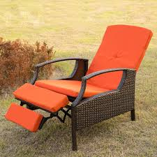 Outdoor Recliner Chairs Wood Patio Chair With Hidden Ottoman Ideas Patio Chair With