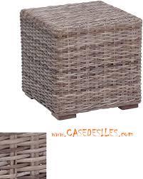 pouf bout de canapé bout de canapé rotin naturel gris g515cdi