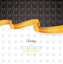 black and gold ribbon background with black rhombic pattern gold ribbon and place for