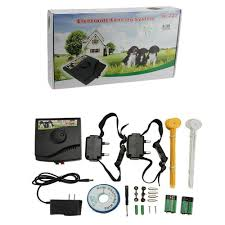 wireless dog fence no wire underground rechargeable and waterproof