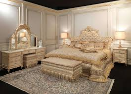 classic louis xvi bedroom capitonnè bed with roses and carved