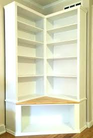 Corner Bookcases White Corner Bookshelf Collection 5 Shelf Narrow Bookcase