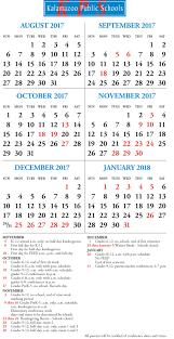 district calendar kalamazoo public schools