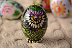 painted wooden easter eggs madeheart wooden easter eggs