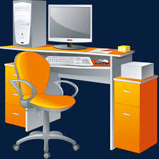 le de bureau orange un ordinateur et un ordinateur de bureau orange chaise