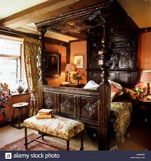 four poster double bed stock photos four poster double bed stock victorian bedroom with wooden four poster bed stock image