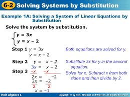 solving systems of equations using substitution worksheet worksheets