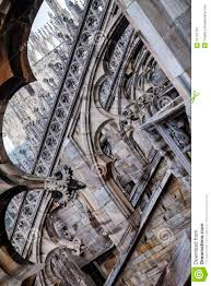 flying buttresses milan cathedral italy duomo stock image