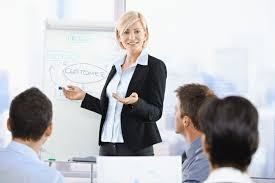 travel agent training images Businesswoman presenting business consulting coaching event jpg