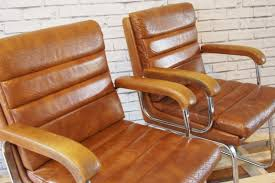 Vintage Leather Chairs Vintage Verco Leather And Chrome Chairs Heavenly Metal