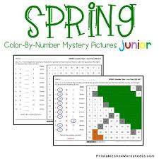 spring color by number counting greater than less than