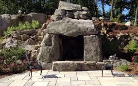 Outdoor Fieldstone Fireplace - mesmerizing 40 rustic stone fireplaces design inspiration of