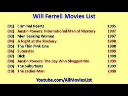 Seeking Will Ferrell Will Ferrell List
