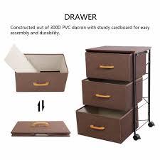 3 Bin Cabinet Lifewit 3 Tier Drawer Storage Bin Cabinet Home Office Storage