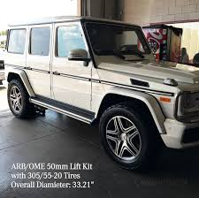 mercedes g class mercedes g class w463 arb ome 50mm lift kit with front bar