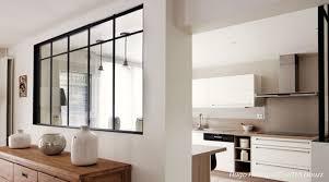 verriere entre cuisine et salon merveilleux verriere entre cuisine et salle a manger 16 en bois
