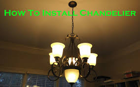 install 6 light chandelier in dining room youtube