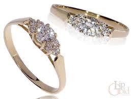 pierscionek zareczynowy pierścionek zaręczynowy złoty z kamieniami pierścionki