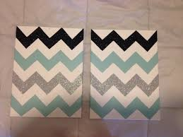 diy chevron canvas make your chevron pattern tape off paint and
