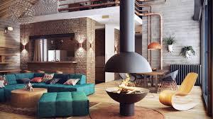 home design brilliant rustic loft living room ideas integrates