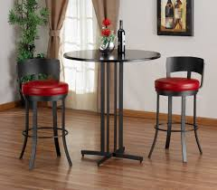 round bistro table set furniture white bar table sets with white leather upholstered