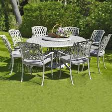 Aluminium Garden Chairs Uk Bramblecrest Turin 8 Seat Cast Aluminium Garden Furniture Set