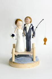 fishing wedding cake toppers i a who s favorite date is fishing what a