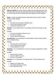 figures of speech worksheet free esl printable worksheets made
