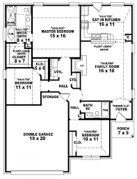 3 Bedroom Plan 3 Bedroom 2 Bath House Plans Ideaforgestudios