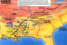 Confederate States Map by Battle Of Vicksburg Civil War Vicksburg Battle Mississippi