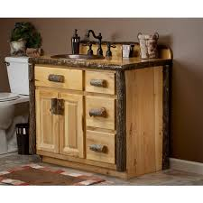 Rustic Bath Vanities Real Hickory Rustic Bathroom Vanity 24
