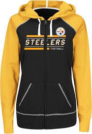 steelers halloween nfl women u0027s colorblock hoodie jacket pittsburgh steelers