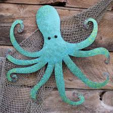 Octopus Home Decor Metal Wall Art For Beach House Metal Fish Wall Art Ebay With
