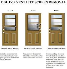 Vented Exterior Door Mastercraft E 18 Steel Venting Half Lite Prehung Exterior Door At