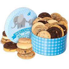 cookie gift basket welcome baby boy cookie gift box by cheesecake