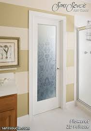 Interior Bathroom Doors by Simple Interior Frosted Glass Door Pocket For Bathroom To Allow