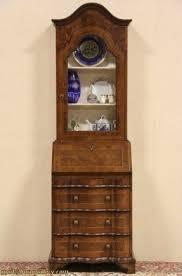 Antique Curio Cabinet With Desk Narrow Secretary Desk Foter