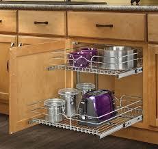 Kitchen Cabinet Storage Shelves Top 35 Stylish Kitchen Cabinet Shelf Organizers Rev Pull Out