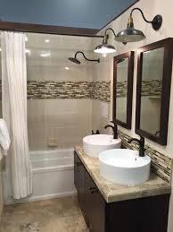 Industrial Shower Door Beige Glass Tile Industrial Wall Sconce Contemporary Baltimore